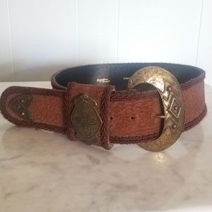 Vintage Corded wide Belt By Something French